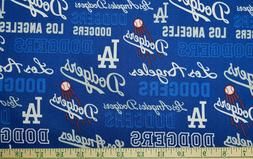 1/2 yd MLB Los Angeles Dodgers Cotton Fabric