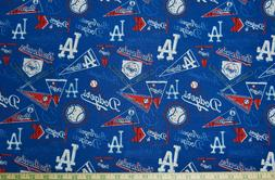 1/2 yd. MLB Los Angeles Dodgers Vintage Cotton Fabric