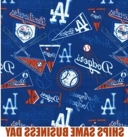 1/4 Yard - Los Angeles LA Dodgers MLB Baseball Fabric 100% C