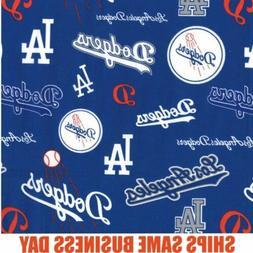 1/4 Yard Los Angeles LA Dodgers Logo MLB Baseball Fabric 100
