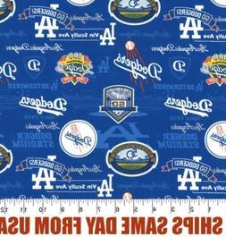 1/4 yard - Los Angeles LA Dodgers Field MLB Baseball Fabric