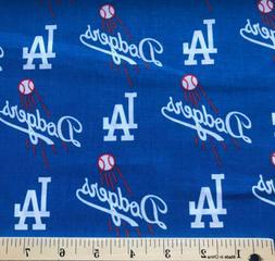 1 Yard Los Angeles LA Dodgers Logo MLB Baseball Fabric 100%