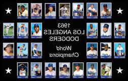 1963 LOS ANGELES DODGERS World Series Vintage Baseball Card