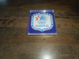 1984 Los Angeles Dodgers Stadium Olympic Baseball Paper Weig