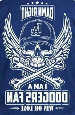 2 Los Angeles Dodgers Skull & Cross Bones Waterproof Vinyl S