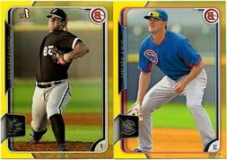 2015 BOWMAN PROSPECTS YELLOW PARALLEL SINGLE U PICK COMPLETE