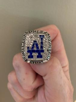 2017 Los Angeles Dodgers World Series Champions Silver. Size