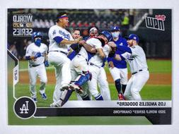 2020 MLB Topps NOW #482 LOS ANGELES DODGERS World Series Cha