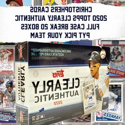 2020 TOPPS CLEARLY AUTHENTIC 20 BOX CASE BREAK PYT Pick Your