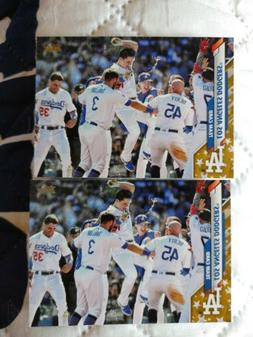 2020 Topps Factory Set LOS ANGELES DODGERS TEAM CARD Gold St