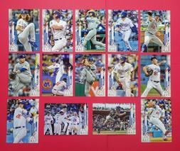 2020 Topps Los Angeles Dodgers Series 1 & 2 Base Team Set wi