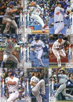 2020 Topps Series 1 Los Angeles Dodgers Team Set of 17 Cards
