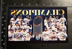 "2020 World Series Champions Los Angeles Dodgers 8"" x 4.75"" P"