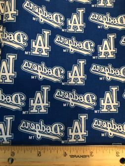 """28"""" x 12"""" L.A. Los Angeles Dodgers Cotton  face mask Fab"""