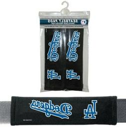 2PC MLB Los Angeles Dodgers Car Truck Bag Seat Belt Pads / S
