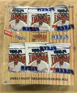 3 Boxes 36 SEALED PACKS OF 1996 L.A. Dodgers FLEER TEAM SET