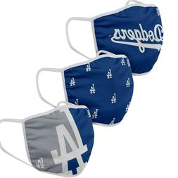 3 Pack Los Angeles Dodgers Face Covers FOCO Officially Licen