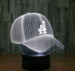 3D MBL Los Angeles Dodgers cap illusion night 7 color led cl