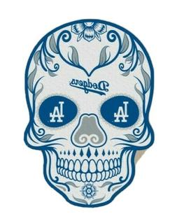 4 Inch Los Angeles Dodgers Sugar Skull Sticker Decal Car Win