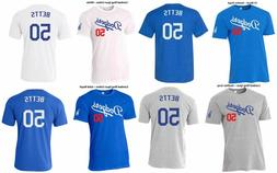 #50 Mookie Betts Los Angeles Dodgers Jersey Style Shirt Tri-