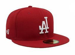 New Era 59Fifty Hat MLB Los Angeles LA Dodgers Men Size Red