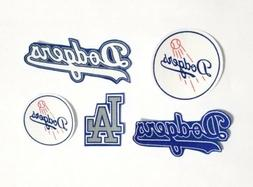5pc Los Angeles Dodgers fabric iron on applique  Patch logo