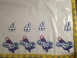 8 pc Los Angeles Dodgers MBL Fabric Applique Iron On Ons