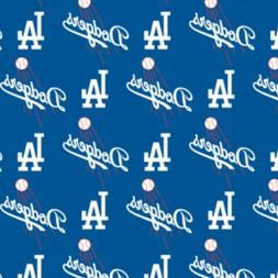 BTHY MLB Los Angeles Dodgers Logo Royal Blue Cotton Fabric B