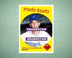 Chuck Churn Los Angeles Dodgers 1959 Style Custom Baseball A