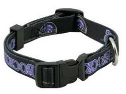 Colorado Rockies Pet Collar; Large Fits Neck Size 18 In - 26