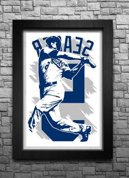 COREY SEAGER art print/poster LOS ANGELES DODGERS FREE S&H!