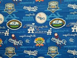 "FAT QUARTER 18""X22"" LOS ANGELES DODGERS -50TH Anniversary Ed"
