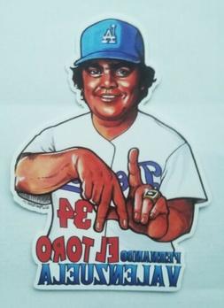 "Fernando Valenzuela ""El Toro"" sticker LA Los Angeles Dodgers"