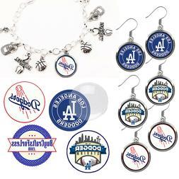 FREE DESIGN > LOS ANGELES DODGERS -Earrings, Pendant, Bracel