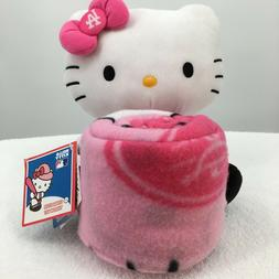 HELLO KITTY Throw Blanket and Plush Set Los Angeles Dodgers
