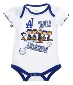 MLB Infants Los Angeles Dodgers Peanuts Love Baseball Creepe