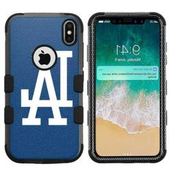 iPhone XR  Hard+Rubber Rugged Case Los Angeles LA Dodgers #B