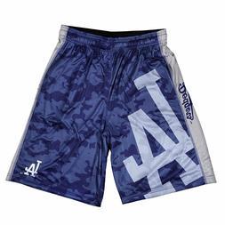 KLEW Men's MLB Los Angeles Dodgers Big Logo Basketball Short