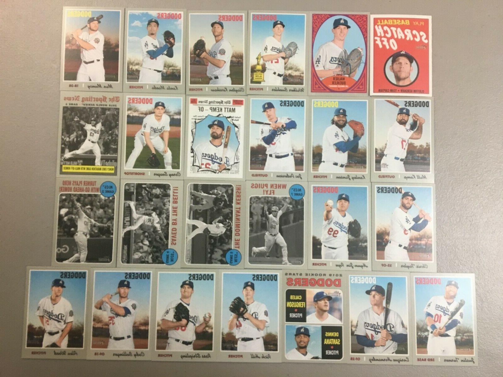 2019 topps heritage los angeles dodgers master