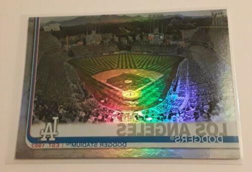 2019 topps los angeles dodgers stadium rainbow