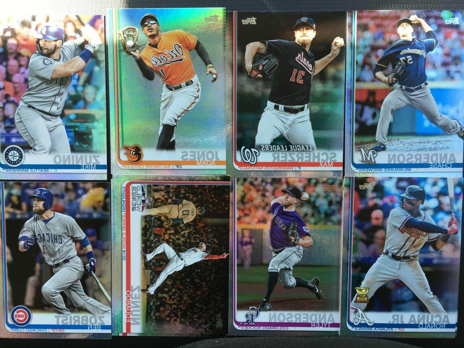 2019 topps series 1 rainbow foil parallel