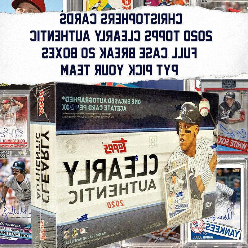 2020 topps clearly authentic 20 box case