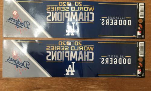 Los Angeles Dodgers 2020 World Champions Decal X3 GIFT