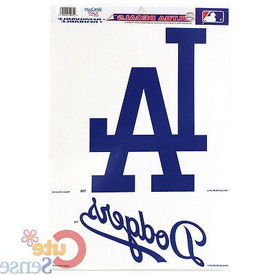 la dodgers auto window clings decal 11x17