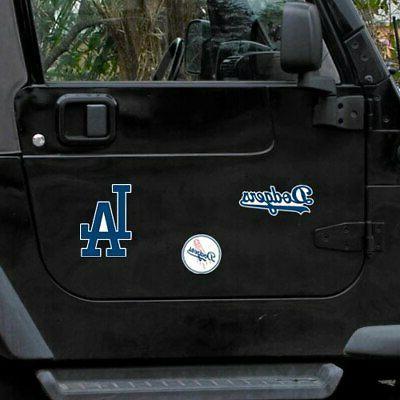 "WinCraft Angeles Dodgers 11"" X 11"" 3-pack Car"