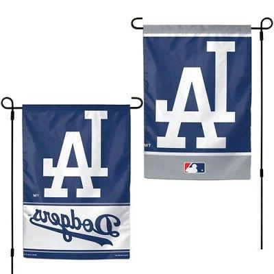Los Angeles Dodgers 2 Sided MLB Garden Flag Double Logo Desi