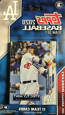 Los Angeles Dodgers 2020 Topps Factory Team Set Dustin May G