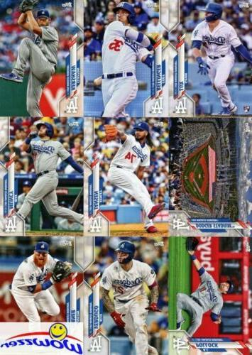 Los Angeles Dodgers 2020 Topps LE 17 Card Team Set WORLD CHA
