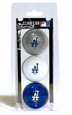 Los Angeles Dodgers 3 Pack Golf Balls  LA MLB White Golfing