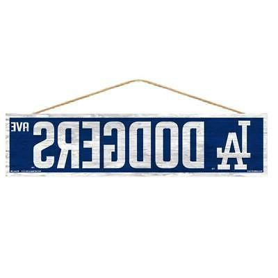 los angeles dodgers 4 x17 wood sign